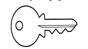 Key Coloring Page Printable Provides Easy Sponge Activity