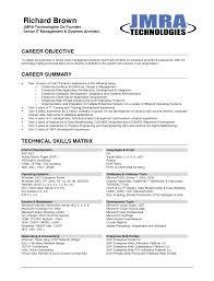Career Objective Sample Resume