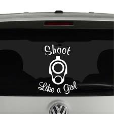 Shoot Like A Girl 2nd Amendment Vinyl Decal Sticker - Cosmic Frogs ... Deer Heart Decal Sticker Car Truck Country Hunt Buck Girl Bow Love Sticker Made You Look Jdm Girl Funny Car Truck Window Hotmeini 2x Sexy Women Silhouette Stickers Mud Flap Vinyl At Superb Graphics We Specialize In Custom Decalsgraphics And Amazoncom Lift It Fat Girls Cant Jump Jeep Off Road Window Thick Chick Trucker Mudflap Sexy Doe Ebay Yall Just Got Passed By A Southern Girls Texas Sign Company Destroys Tailgate Decal Of Bound Woman Flag City Slip Country Grip Peeing On City Boys Cartruck Wall