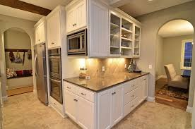 tile to wood floor transition kitchen traditional with bench built