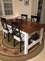 Diy Farm Table On The Cheap How To Painted Furniture Rustic