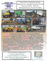 State Line Heavy Equipment Sale - Waverly, NY Need A Frontend Loader Dump Truck This Auction May Be For You Asphalt Sealing Equipment Online Auction Key Auctioneers United Inc Best Quality Trucks Cstruction Salvaged Blue Motorhome Heavy Duty Autobidmaster Jws_pg_feature Direct Sullivan Auctioneersupcoming Events Large No Reserve Retirement Manheim Indianapolis Truck On Vimeo Jeff Martin Industrial Farm Veonline Heavy Equipment Auction Buddy Barton Auctioneer Crechale Auctions And Sales Hattiesburg Ms Noreserve
