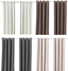 ikea merete pair of curtains 2 panels brown purple beige white