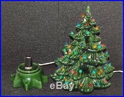 Vintage Atlantic Mold Ceramic Christmas Tree by Ceramic Christmas Tree 15 Atlantic Mold Multi Color Green Tree Nice