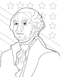 George Washington Coloring Page Handipoints Inside