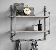 Rustic Pine Shelf With Hooks