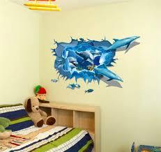 3d wandtattoo delfine badezimmer kinderzimmer wandsticker