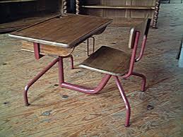 bureau d 馗olier ancien en bois 1 place pupitre d écolier 1 place déco ées 50 réglable pour les