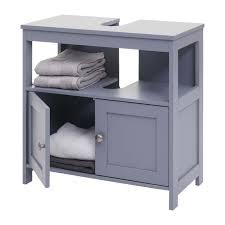 waschbeckenunterschrank hwc b63 badschrank badezimmer unterschrank waschtischunterschrank 60x60x30cm grau