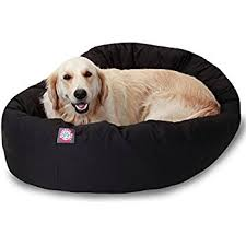 amazon com 40 inch black bagel dog bed by majestic pet products