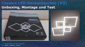 casalux led deckenleuchte 3 aldi unboxing montage und test design le vier quadrate