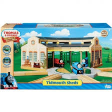 thomas friends wooden railway set tidmouth sheds by learning