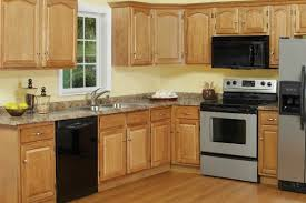 light oak kitchen cabinets with lighting kitchen