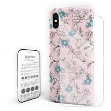100 Flannel Flower Glass Amazoncom Elegance Pink Phone Case Slim