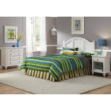 Ducks Unlimited Bedding by Shop Home Styles Bermuda Brushed White Queen Bedroom Set At Lowes Com