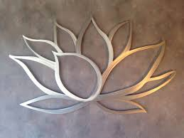 Lotus Flower Metal Wall Art By INSPIREMEtals