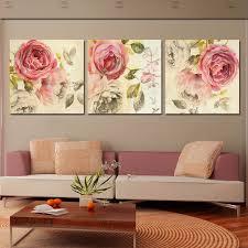 3 Piece Wall Art Abstract Painting Pink Rose Flower Canvas HD Prints Picture Modern Home Decor Poster No Frame Free Shipping In Calligraphy From