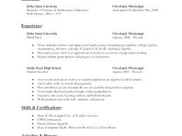 Tutor Resume Sample Math Beautiful Nursing