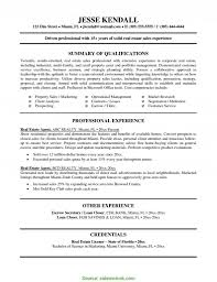Unusual Real Estate Resume Templates Free Impressive Sample About Mercial Rea Relevant