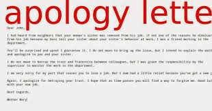 Great Apology Letter To Friend for Lose a Job Thogati
