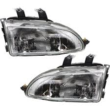 headlight set for 92 95 honda civic driver and passenger side w