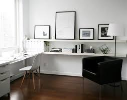 Long IKEA Lack Shelves For A Small Home Office