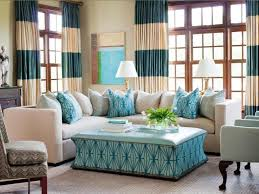 turquoise and brown living room ideas yellow floral pattern fabric