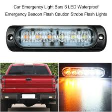 100 Emergency Light Bars For Trucks Waterproof Car 6 LED Beacon Flash Caution