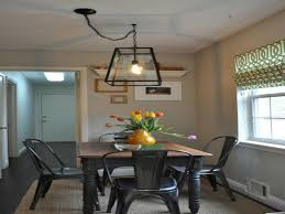 Dining Room Lighting Not Centered With Off Rustic Contemporary Wrought Iron Farmhouse
