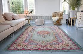 rozenkelim vintage teppich shabby chic look teppichläufer für wohnzimmer schlafzimmer und flur 70 polypropylen 30 baumwolle pastell 225cm x