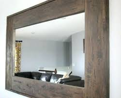 wall mirrors large oak framed wall mirror light oak framed wall