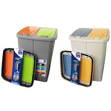 poubelle de bureau tri selectif poubelle de tri sélectif cuisine 2 compartiments 2 x 22 5 litres