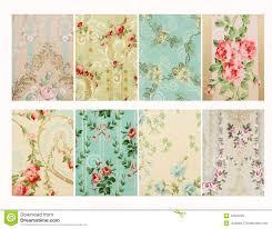 Set Of Vintage French Floral Shabby Chic Walloper Background Samples