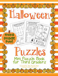 Halloween Picture Books For Third Graders by The Puzzle Den Halloween Puzzle Mini Books