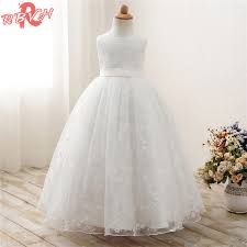 Summer Girl Party Dress Childrens Clothing 9 Years White Prom Gown Rustic Flower Wedding