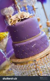 Double Layer Purple Birthday Cake