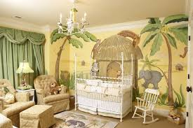 Artistic Safari Zoo Baby Boy Bedroom Theme Ideas With Creative Walls Paint