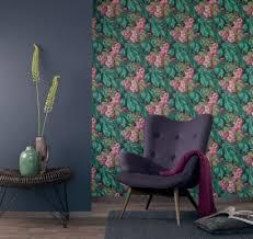 casa padrino barock vliestapete mit blumenmuster schwarz grün braun rosa lila 10 05 x 0 52 m deko accessoires