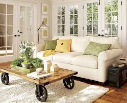 Decorations Small White Sofa Living Room Furniture Ideas For Apartments Plus Wooden Plank Coffee Table Decor Carpet Designs Then Barn Wood