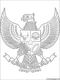 Indonesia Coat Of Arms Coloring Page