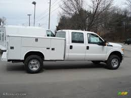 2012 Oxford White Ford F350 Super Duty XL Crew Cab 4x4 Utility Truck ...