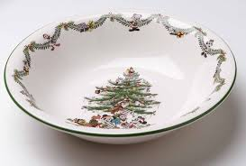 Spode Christmas Tree Platter by The Enchanted Castle Offering Licensed Disney Producs And