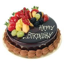 fruit chocolate birthday cake