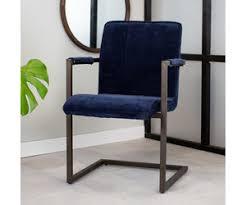dimehouse jackson esszimmerstuhl industrial stoff blau