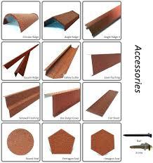 metal roofing accessories fabulous types of roof tiles metal