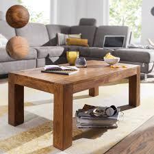 finebuy couchtisch patan 110 x 60 x 40 cm holz massiv massiver wohnzimmertisch rechteckig braun beistelltisch massivholz design holztisch