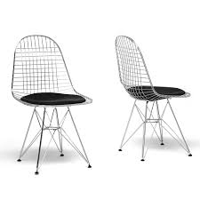 Amazon.com - Baxton Studio Avery Mid-Century Modern Wire Chair With ... White Wire Diamond Ding Chair Fmi1157white The Home Depot Shop Poly And Bark Padget Eiffel Leg Set Of 2 Bottega Tower Ding Chair By Sohoconcept Luxemoderndesigncom Commercial Gold Leaf Shape Metal Chairgold Color Bellmont Bertoia Of Rose Harry Oster Black Project 62 In 2019 4 Wire Ding Chairs Black With Cushion 831 W Green Cushion Zuo Eurway Holly Reviews Joss Main Hashtag Bourquin Wayfair Simple Hollow For Living Room