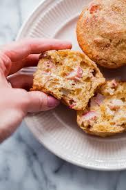 Easy Rhubarb Muffins Whole Grain Muffin Recipe Made With Greek Yogurt Lightly Sweetened