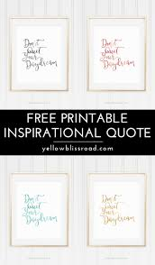 Free Printable Inspirational Quote