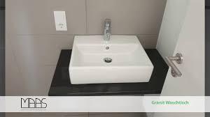 düren nero assoluto granit waschtisch
